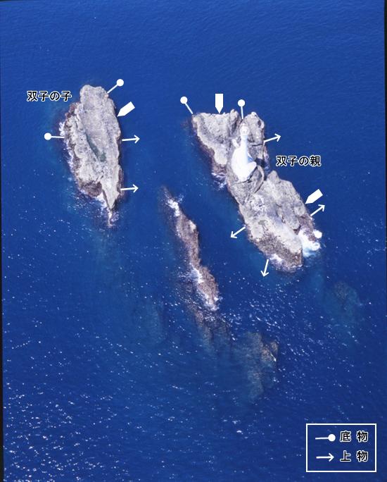 双子島周辺